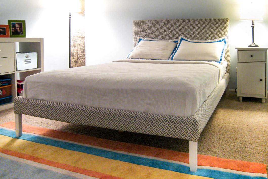 ikea hack how to upholster a fjellse bed frame emmerson and fifteenth. Black Bedroom Furniture Sets. Home Design Ideas