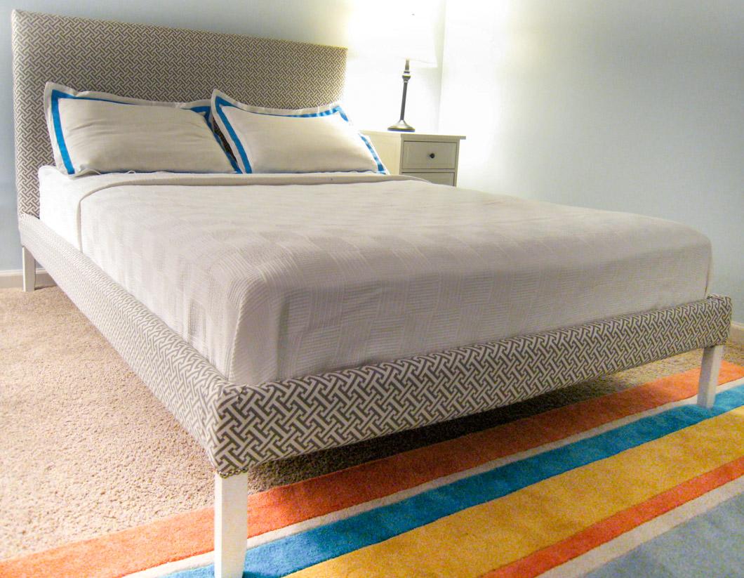 how to reupholster bed frame ikea fjellse 8 emmerson and fifteenth. Black Bedroom Furniture Sets. Home Design Ideas