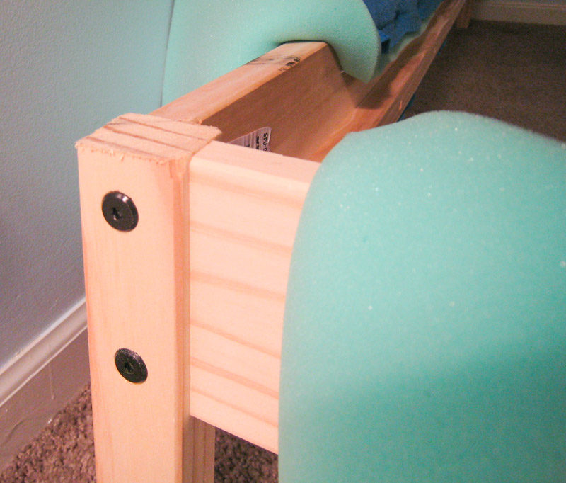 How to Reupholster Bed Frame Ikea Fjellse-leveling foot board