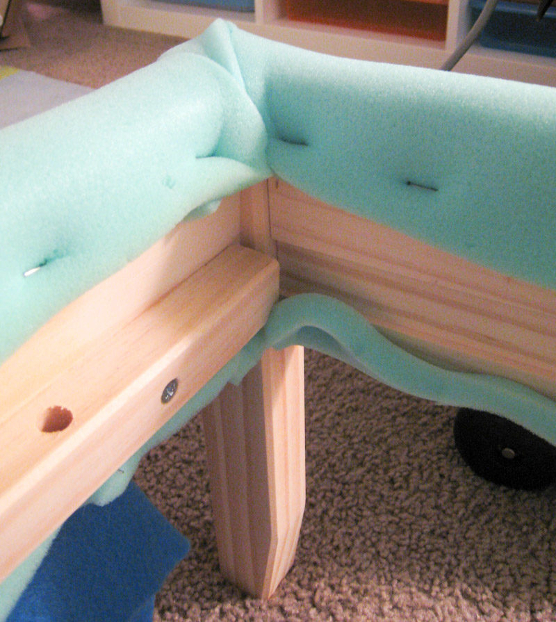 How to Reupholster Bed Frame Ikea Fjellse-how to finish corners