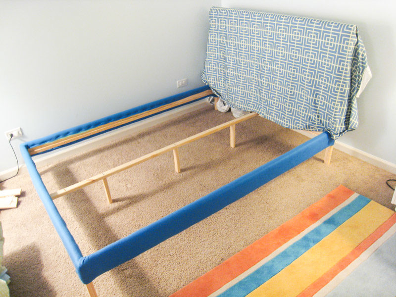 How to Reupholster Bed Frame Ikea Fjellse-Tutorial