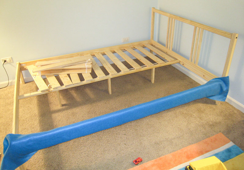 How To Reupholster Bed Frame Ikea Fjellse Tutorial ...