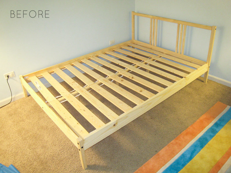 How To Reupholster Bed Frame Ikea Fjellse Tutorial BEFORE