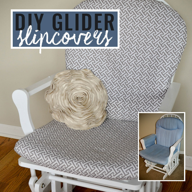 DIY | How To Make Nursery Glider Slipcovers