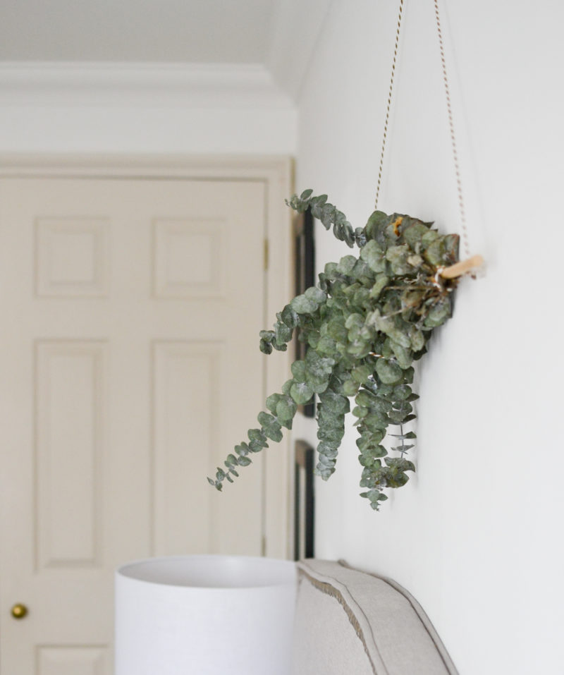 Global Neutral Master Bedroom Reveal - DIY Eucalyptus Wall Hanging 1