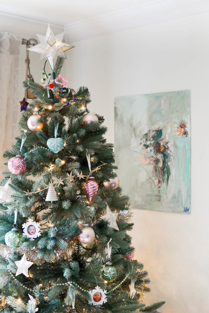 Pink Gold Mint Christmas Decorating