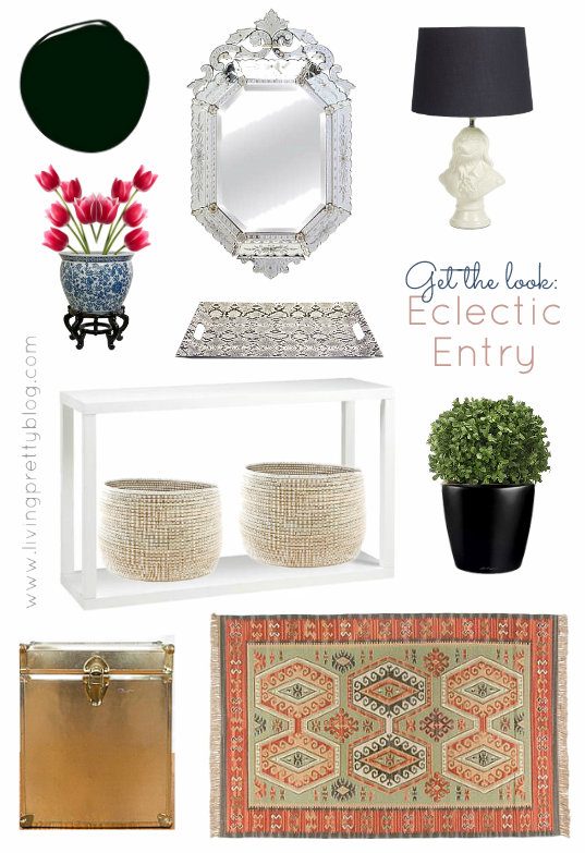 Mood Board - Get the Look - Modern Vintage French Eclectic Entryway