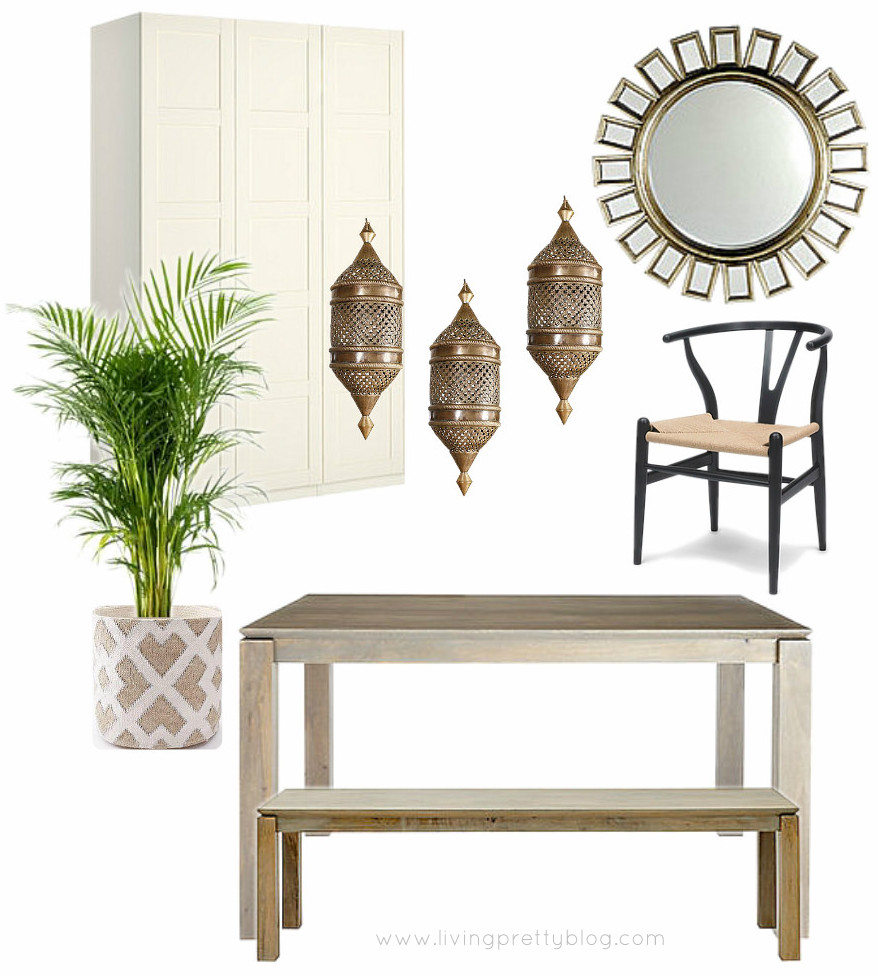 Global Eclectic Dining Room Mood Board