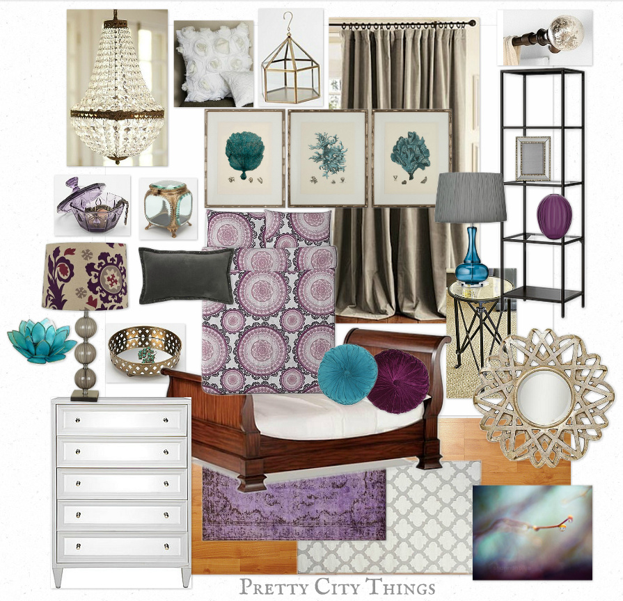 Mood Board - Sam's Luxe Jewel-Toned Bedroom Design