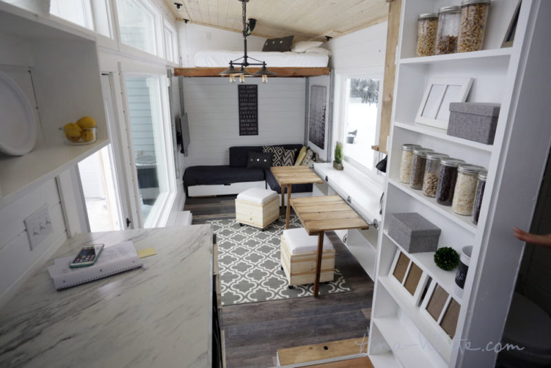 Ana White Tiny House Open Plan Scandi Style - Bedrooms