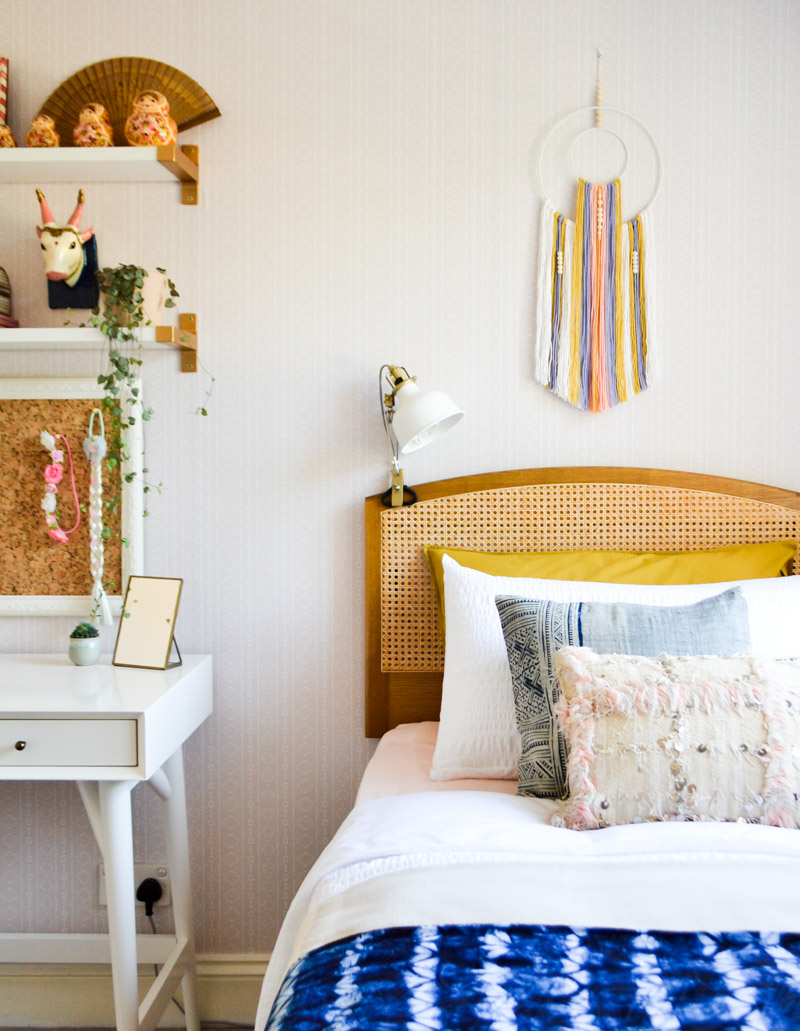 A global boho kids bedroom makeover one room challenge for Kids room makeover