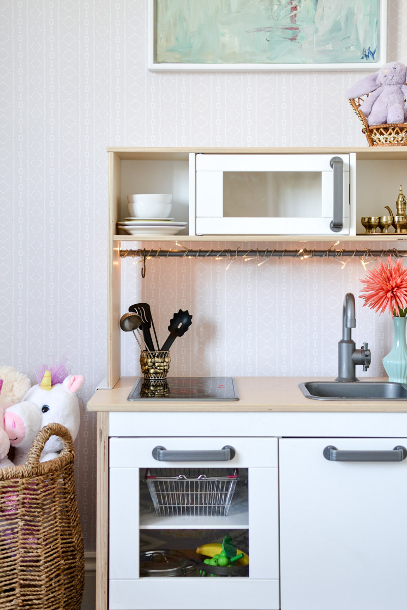 Global Boho Kids Room Makeover Ikea Duktig Play Kitchen