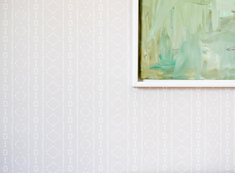 Global boho kids bedroom makeover - Spoonflower removable wallpaper Holli Zollinger Bebe Mudcloth