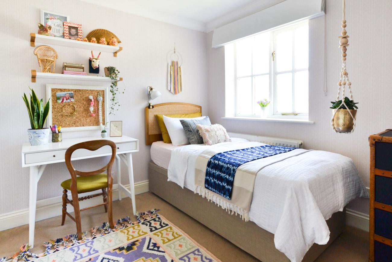 A Global Boho Kids Bedroom Makeover   One Room Challenge ...