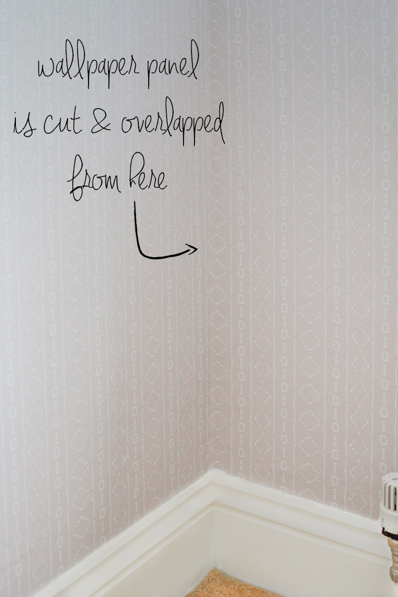 How to Hang Removable Wallpaper On Wonky Corners or Wonky Walls