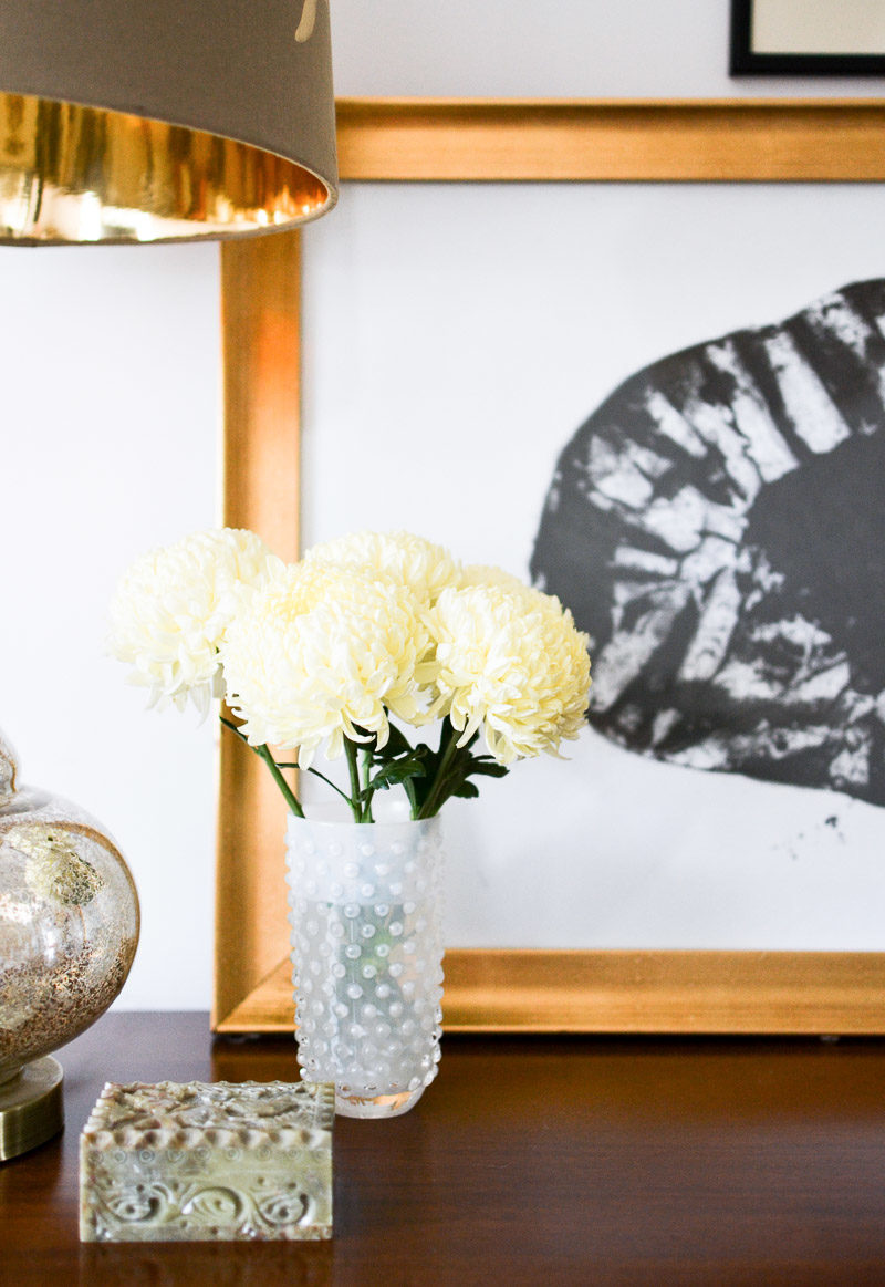 Fresh flowers on dresser: Summer 17 Eclectic Home Tour